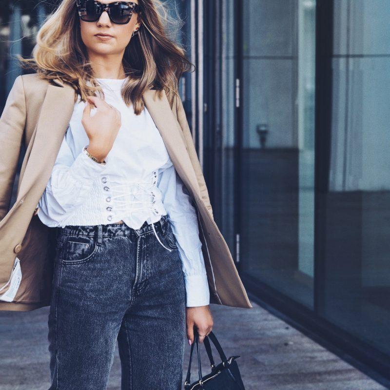 white corset blouse