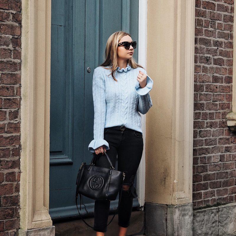 H&M blue knitwear