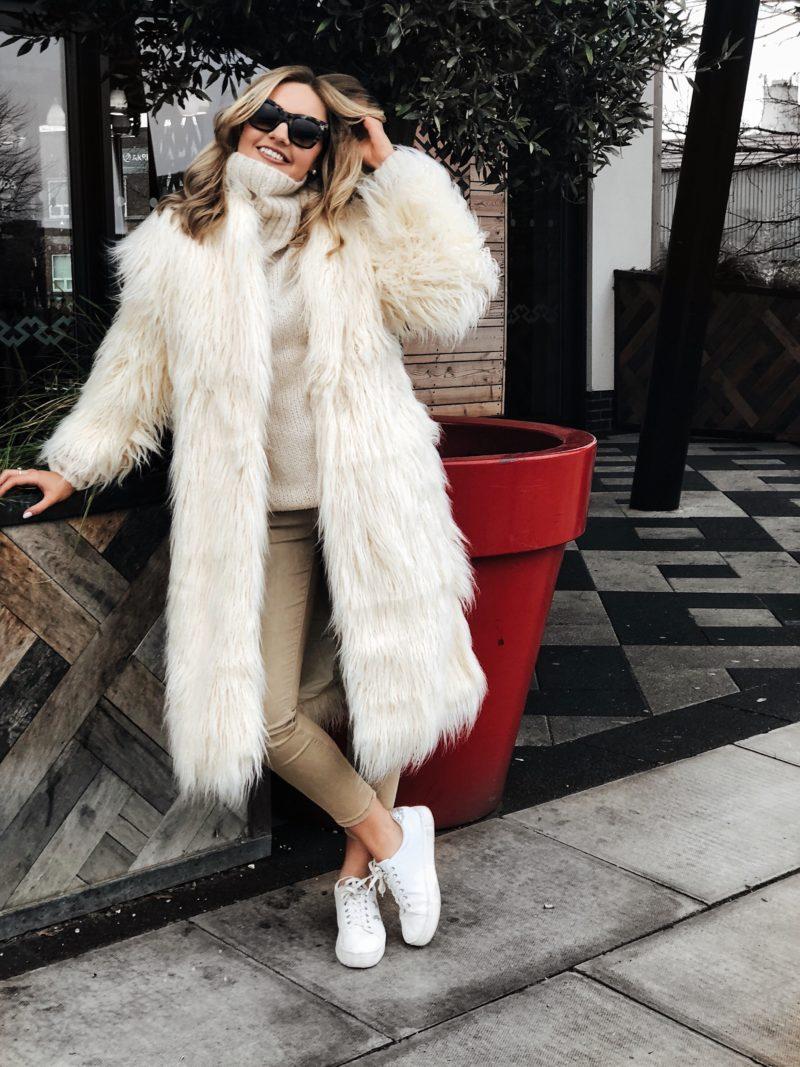 long furry coat