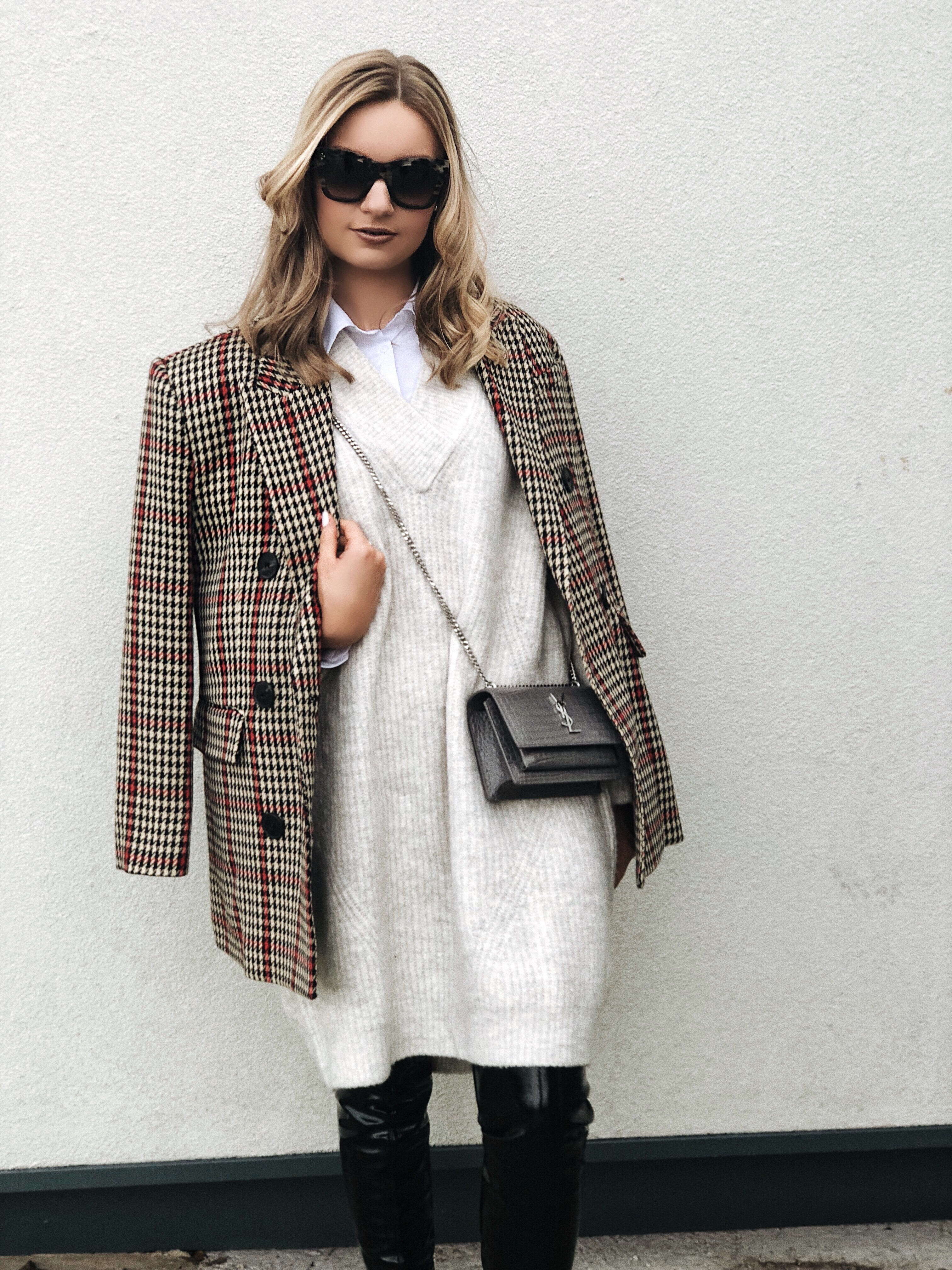 red check blazer