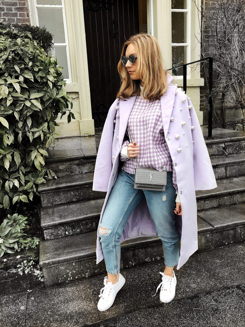 lilac pearl coat
