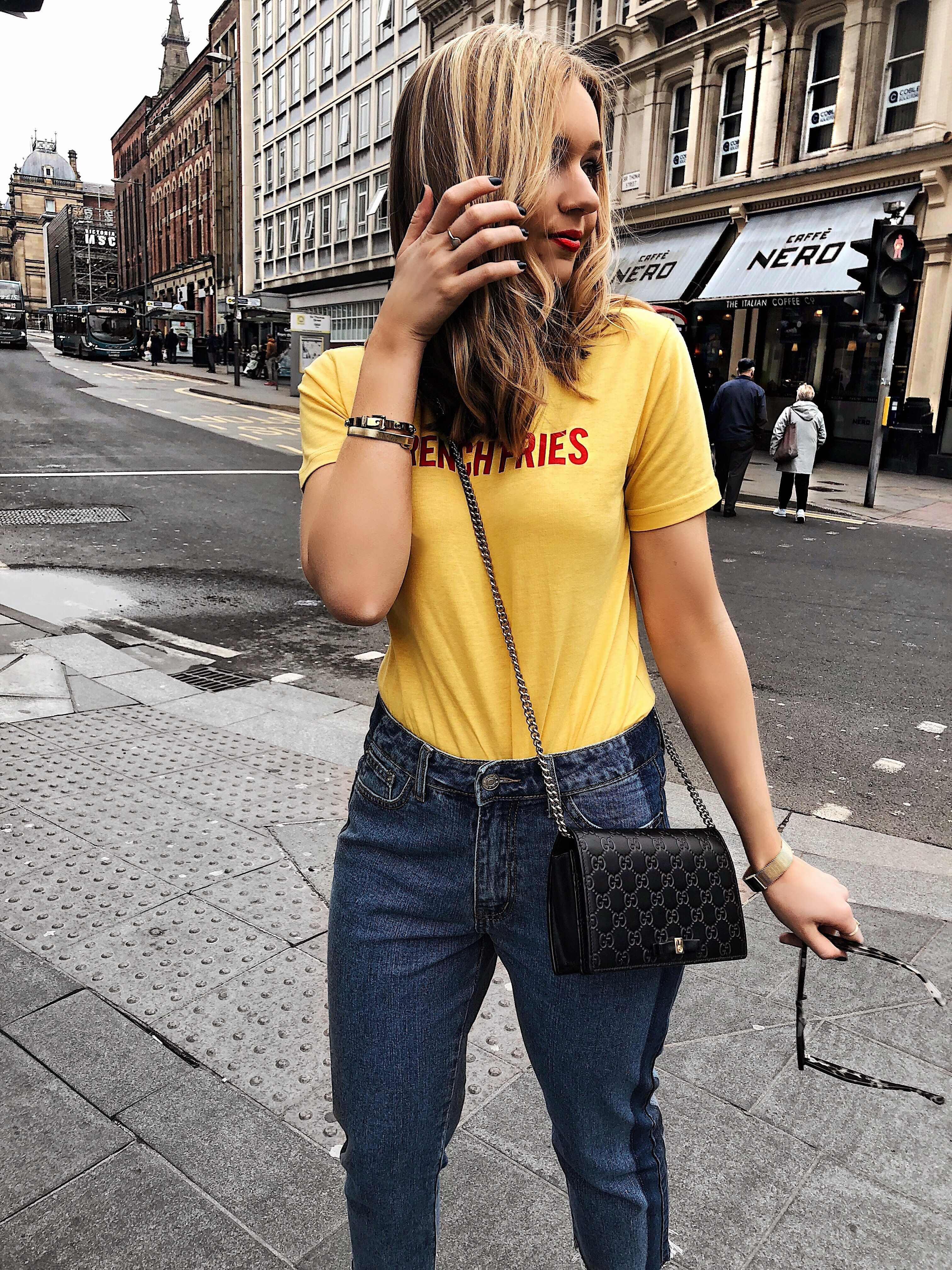 colourful rebel french fries tee